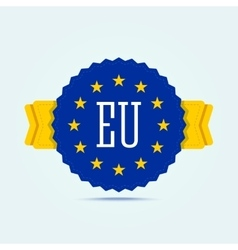 European union badge vector