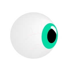Eyeball isometric 3d icon vector