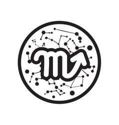 flat icon in black and white style Zodiac signs vector image