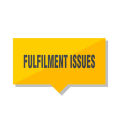 Fulfilment issues price tag vector