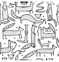 Funny mongooses seamless pattern for your design vector