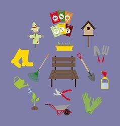 Garden Icons Set vector image