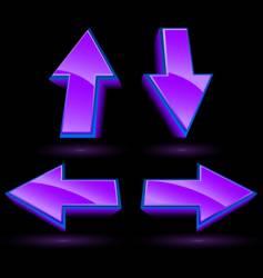 glossy arrows vector image
