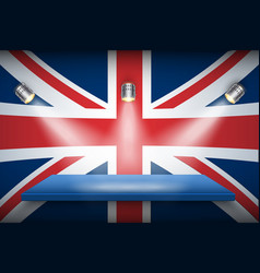 Great britain flag and platform vector