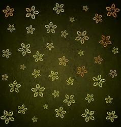 Green golden flower leaf background pattern design vector