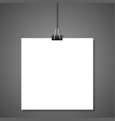 Hanging white paper vector