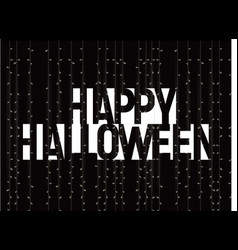 happy halloween greeting card negative space vector image