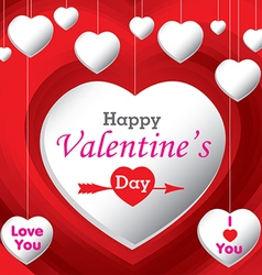 Happy Valantines Day vector image
