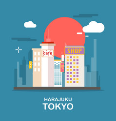 harajuku beautiful town in tokyo design vector image