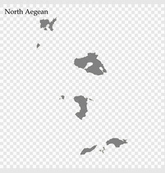 High quality map region greece vector