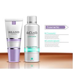 Hydration cosmetics bottles realistic vector