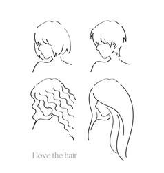 I love the hair vector