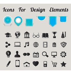 Icons For Design Elements vector image