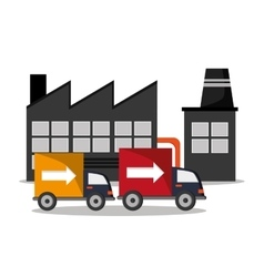 Industry truck and delivery design vector