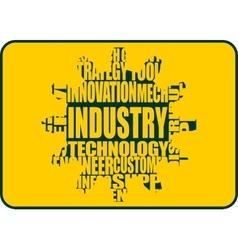 Industry word cloud concept vector image