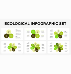 Infographic templates set leaf cycle vector