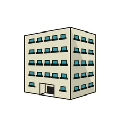 Isolated building with windows design vector image