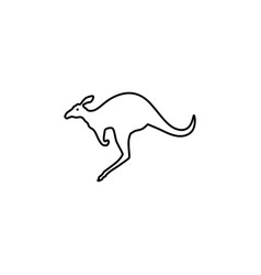 Kangaroo line icon in flat style for apps ui vector