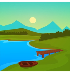 Lake Dock vector