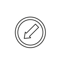 Lane left road sign icon vector