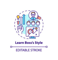 Learn style boss concept icon vector