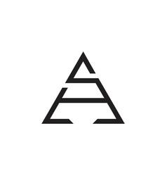 Letter sa arrow geometric line logo vector
