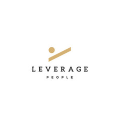 leverage people human logo icon vector image