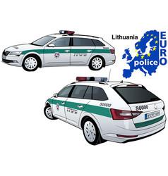 Lithuania police car vector