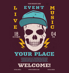 live eventmusic flyer music poster vector image