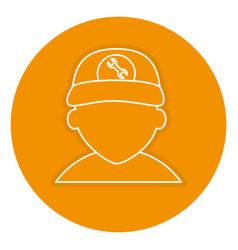 Mechanic avatar character icon vector