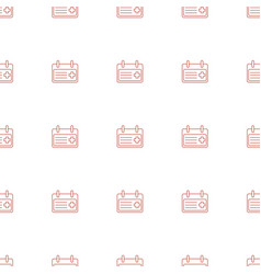 Medical appointment icon pattern seamless white vector