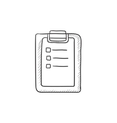 Medical report sketch icon vector
