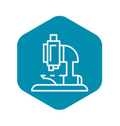 Microscope icon outline style vector