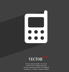 mobile phone icon symbol Flat modern web design vector image