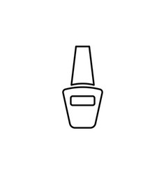 nail polish bottle outline icon signs and symbols vector image