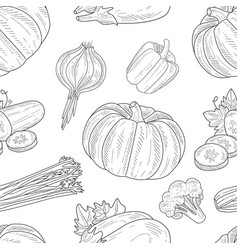 natural organic healthy products seamless pattern vector image