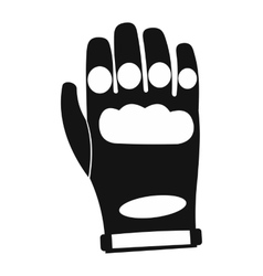 Paintball glove simple icon vector