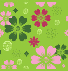pattern 0090 summer flowers vector image