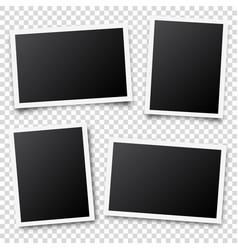photo card framefilm set retro vintage vector image