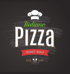 pizza emblem vector image