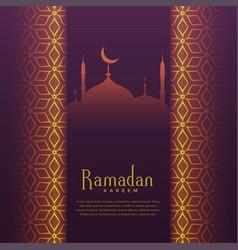ramadan kareem festival greeting beautiful vector image