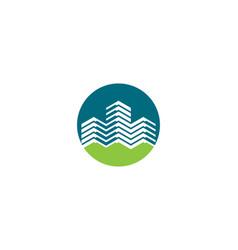 real estate logo icon vector image