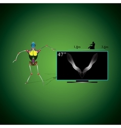 Robot and TV vector