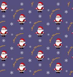 santa claus christmas pattern vector image