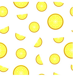 seamless lemon pattern organic herbal citrus vector image