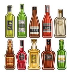 Set different bottles vector