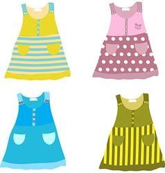 Set of dresses vector