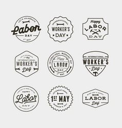 set of labor day badges international workers day vector image