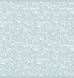 silver grey spring flowers texture seamless vector image