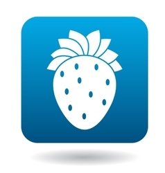 Strawberry icon in flat style vector